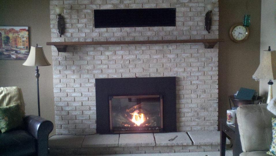 Brick Fireplace by Wilkening Fireplace