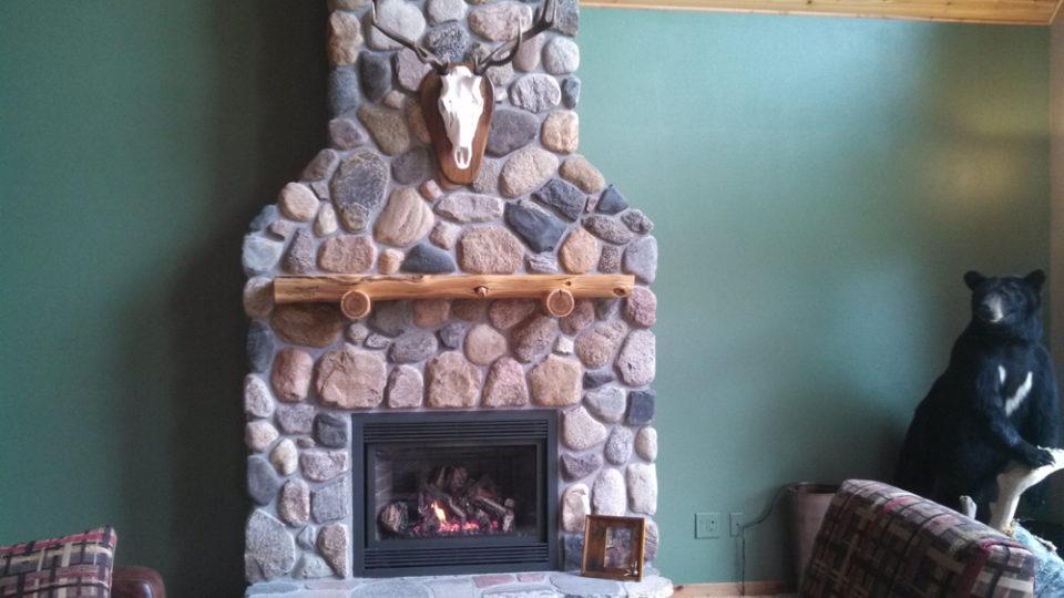 Stone Fireplace by Wilkening Fireplace of Walker, MN